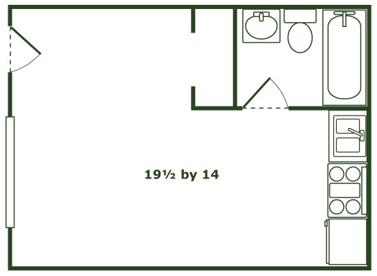 Orchard Courts Apartments Studio Apartment Floorplans